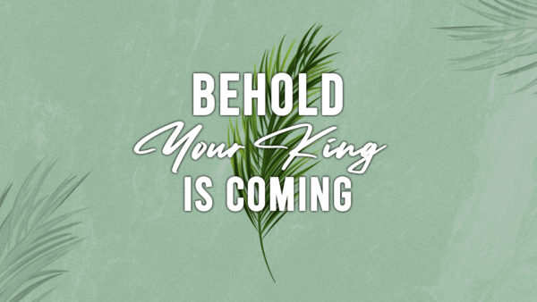 Behold Your King Is Coming
